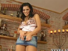 Incredible pecker riding for the first time