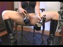 Amateur German Inserts Heel In Pussy - heelslovers@pornhub