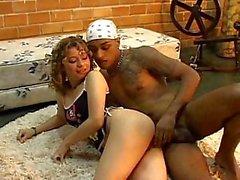 Kinky dolly stuffed with black dick