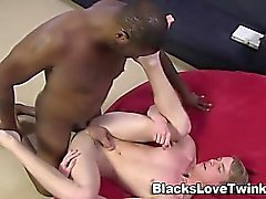 Big black dick facializes twink