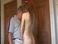 Cute Teen with Old Man