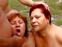 Mature Outdoor Orgy