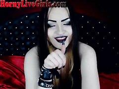 Hot russische Goth Webcam Mädchen nackt