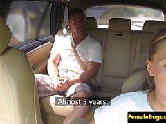Bigtit cabbie pounded on backseat
