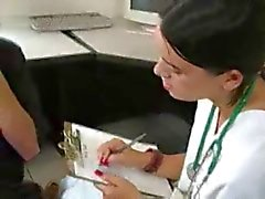 Doctor's Assistant Jacks Off Patient While Doctor Films It