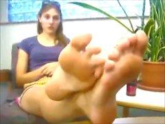 Sexy White Girl Feet Soles