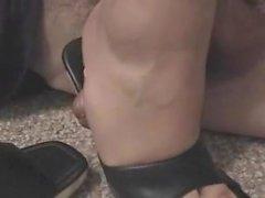 Mistress inshoe rubbing cock 2