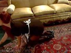 Lesbian Foot Maids Taunt Rich Boss