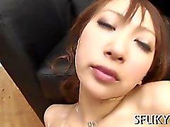 Vibrator vs Asian wet pussy