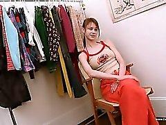 Beata teen undressing in dressing room