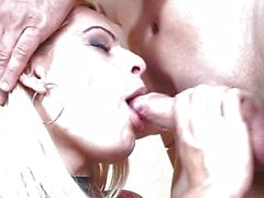 Hot shemale fuck with cum on tits