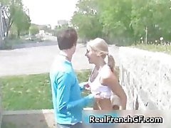 Slutty french girlfriend road trip sex part3