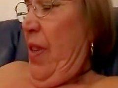Grandma Strips And Sucks Cock