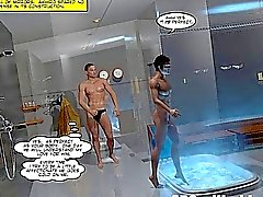 Japanese Sadomaso comunidade de BDSM 3D alegre animados de Yaoi do Anime