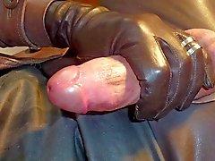 GLOVER1000 - braunes Leder gurl