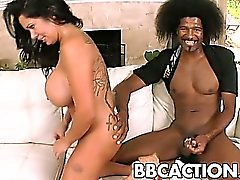 Big black cock fucks Sienna West