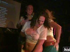 Nasty babes like to strip down