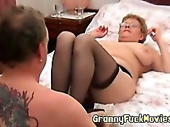 granny sucking like a real pro