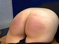 Spanking Caning - Jeans och Bare Bottom