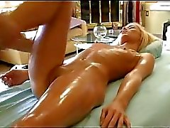 Sexy Rebecca gets fucked after hot massage