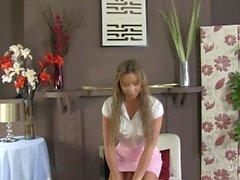 Natalia Forrest in HOT pink satin panties