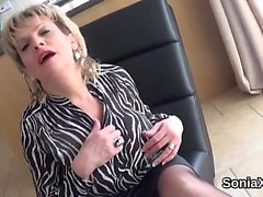 Unfaithful uk milf lady sonia exposes her enormous melons