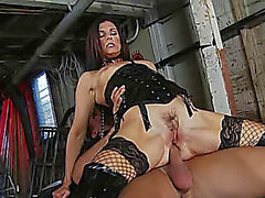 Dungeon team fuck stars dark brown pornstar India Summer