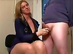 Girl DOMINAtes JERKS many different DICKs COMPilation