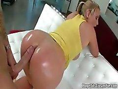 Busty blonde slut goes crazy sucking part5
