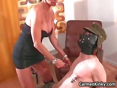 Kinky brunette with huge boobies plays part2