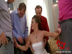Bride blows all her groomsmen!