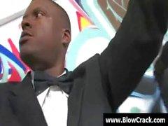 Interracial Blow Bang - Facial cumshot in interracial fucking 02
