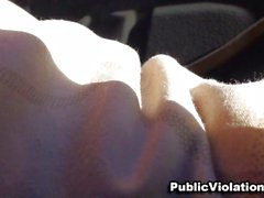 Public lot blowjob