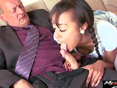Alyssa Divine enjoys sexually satisfying wrinkly old cock
