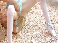 Petite skinny doll strip