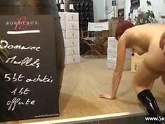 Lisa a french redhead analfucked in a shop