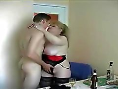 Chubby mature mom and Son's friend