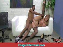 Cougar fucks a huge black monster cock 13
