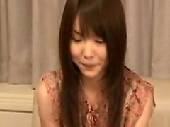 Petite Japanese girl brings a hard prick to orgasm with her