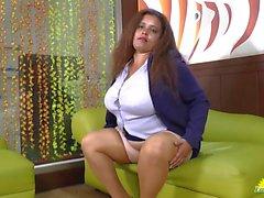 LATINCHILI Rosaly is masturbating her fat latin gr