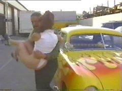 Alex dane gets fucked on a car
