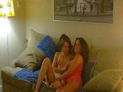 Kaci Star and Amber Make out Kissing Tongue sensuality