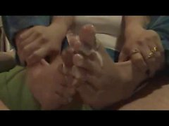 ria sweet homemade footjob