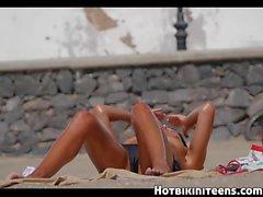 Topless Bikini Teens Beach Voyeur Video HD