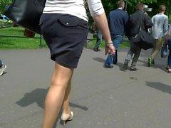 pantyhose candid street comp