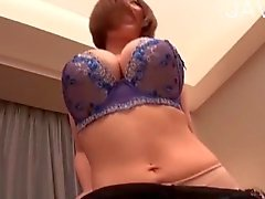 Busty Japanese in pantyhose gets banged