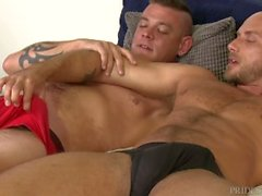 Hairy Muscle Hunk Papa Analized von Big Dick Best Friend