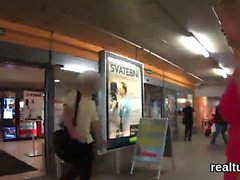 Stunning czech kitten gets seduced in the mall and pounded i