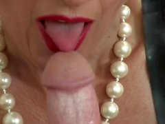 Dominant mature woman handjob