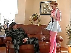 cute Teen pumped well by boss